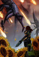 Sunflowers by the-Orator