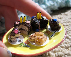 Miniature Happy Bday Cakes by AlliesMinis
