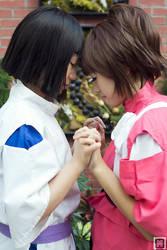 Haku and Chihiro   Spirited Away by m-squaredphotography