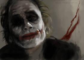 Heath Ledger Joker by TsunamiRaine