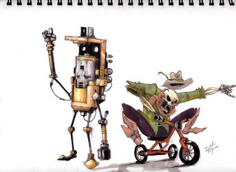 Tricycle skeleton!!!!!!!!!! by Pachipach