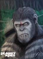 Planet of the Apes (Caesar) by AbangGajan