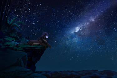 YCH: Stargazing #1 by X-ZELFA
