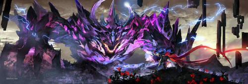 Beast Battle by midorynn