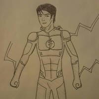 The Flash inked by Obiosborn