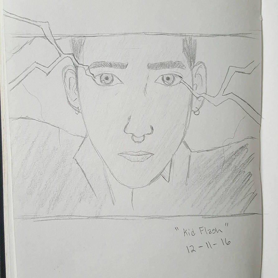 Kid Flash Actor Sketch by Obiosborn