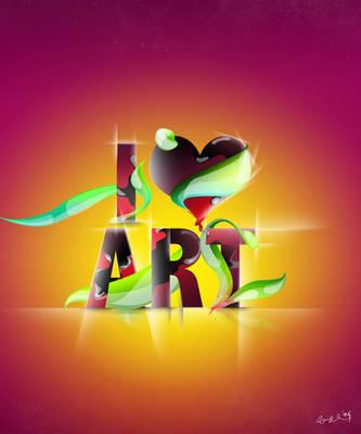 i Love Art by degodson