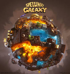 Spelunky Galaxy! (fan art) by Tonyholmsten