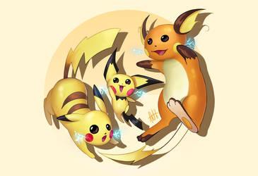 Pichu | Pikachu | Raichu by Lushies-Art