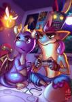 Spyro vs Crash by Lushies-Art