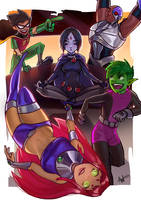 Teen Titans, GO! For Pizza by Lushies-Art