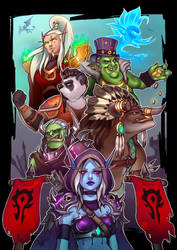 Battle for Azeroth: For The HORDE! by Lushies-Art