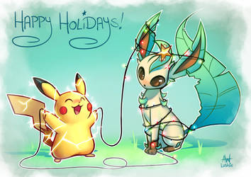 Happy Holidays! 2018 by Lushies-Art