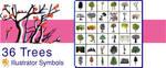 Tokidoki Trees 4 Illustrator by namespace