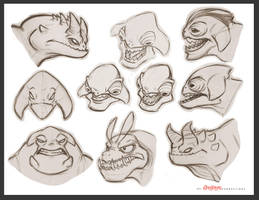 Monster Heads by chewgag