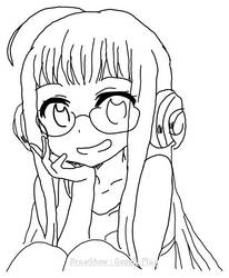my first anime sketch :)  by redcherrycupcake