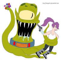 Leela and Kang by Guy-Inkognito