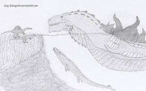 Zilla in Jurassic World by Guy-Inkognito