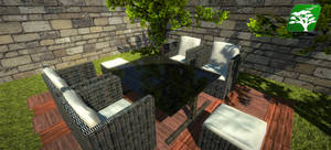 PBR Glass Top Table Chair by RakshiGames