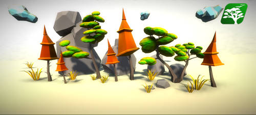 Low Poly Tree Pack by RakshiGames