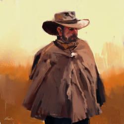 cowboy sketch by MatteoAscente