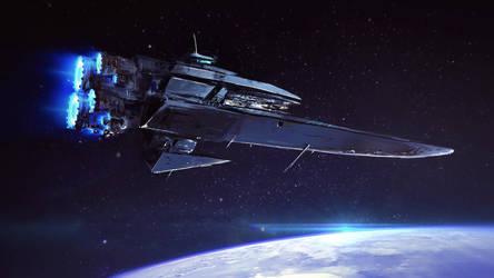 Spaceship ketch by MatteoAscente