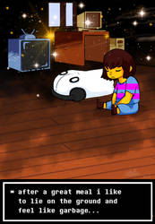 feeling like garbage with napstablook by emukid