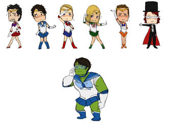 The Sailor Avengers by rabbitzoro