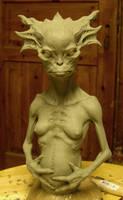 Female alien by BOULARIS