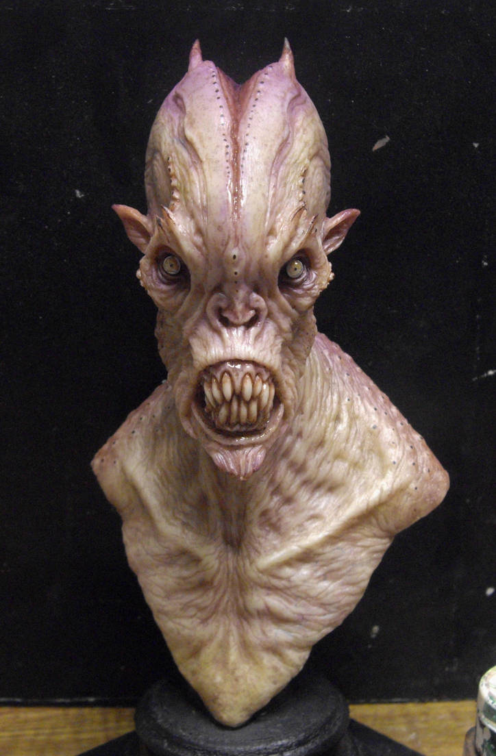 Resin cast alien 1