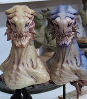 alien busts by BOULARIS
