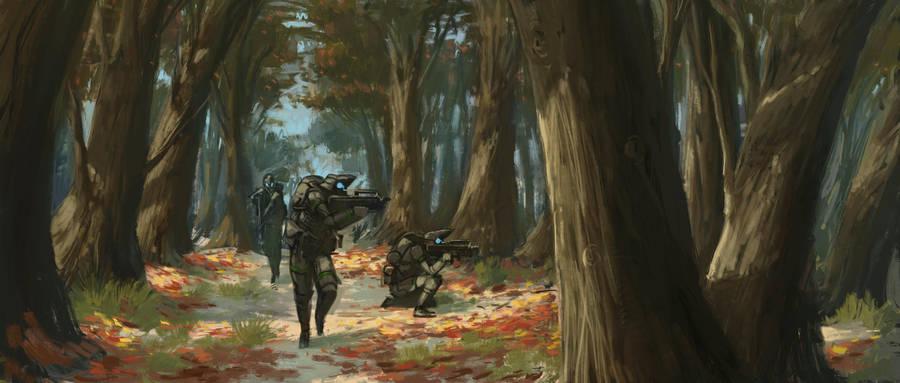 Forest Patrol by CrazyAsian1