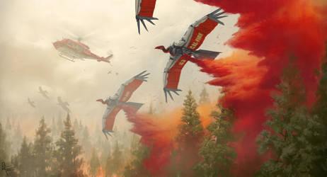 Inferno: Condor UAV's by CrazyAsian1