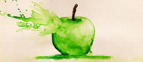 Apple Explosion by bilgeevrw