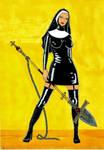 Armed Latex Nun Of Limitles faith by Aishalyn-Art
