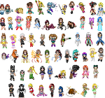 Old Tower Of Time Sprites by merelei