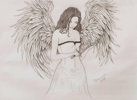 2008 Angel tattoo by JoannaMoory