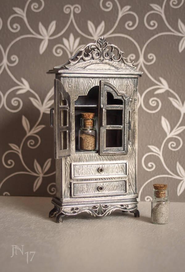 Silver vitrine by JoannaMoory