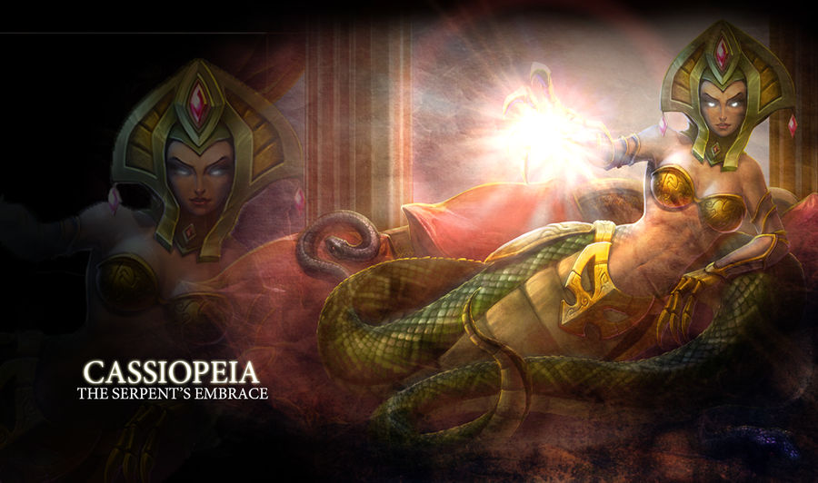 Lol Cassiopeia Wallpaper By Xsilverrose On Deviantart