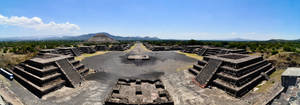 Teotihiacan - From Pyramid of Moon Pano by LLukeBE