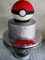 Poke ball pedestal by I-am-Ginger-Pops