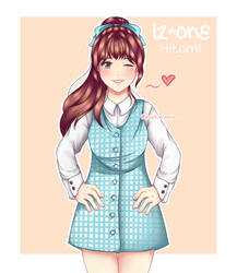 [ IZ*ONE FAN ART ] HIICHAN O' MY! by Lori-Chii