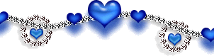 Blue heart and silver chain border by Sugaree-33