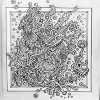 Zentangle pattern drawing by NikitaGrabovskiy