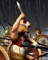 Greek Macedonian Phalanx by kosv01