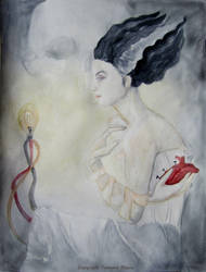 Bride of Frankenstein by Sevora