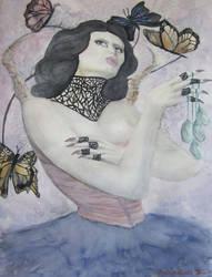 Goddess of Butterflies by Sevora