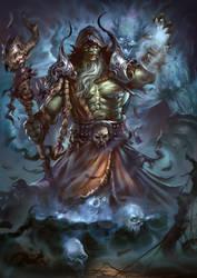 Orc Shaman by BorisDigitalArtist
