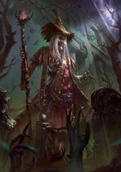 Witch Necromancy by BorisDigitalArtist