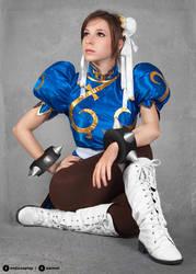 Chun Li cosplay III. by EnjiNight
